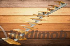 Scari din lemn si metal